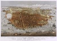 Map Of The City Of San Francisco 1878 Fine-Art Print