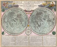 Map Of The Moon-Geographicus-Tabula Selenographica Moon Doppelmayr 1707 Fine-Art Print