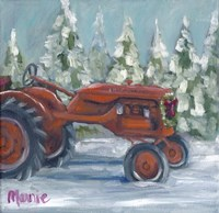 Tractor 4 Seasons Allis Chalmers Holiday Fine-Art Print