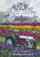 Tractoring Through The Tulips 1 Fine-Art Print