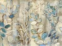 Aqua Leaves Fine-Art Print