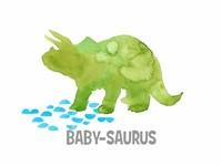 Babysaurus Triceratops Fine-Art Print