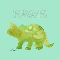 Green Triceratops Fine-Art Print
