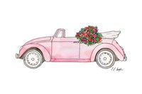 Pink Car with Roses Fine-Art Print