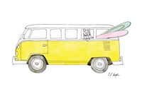 Yellow Van with Pink and Green Surfboards Fine-Art Print