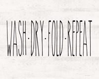 Wash - Dry - Fold - Repeat Fine-Art Print
