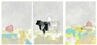 3 Barns and a Cow Set Fine-Art Print