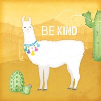 Be Kind Llama Framed Print
