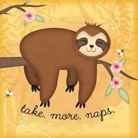 Take More Naps Sloth Fine-Art Print