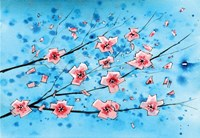 Pink Flowers III Fine-Art Print