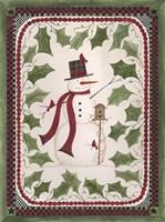 Birdhouse Snowman Fine-Art Print