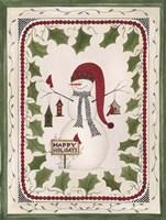 Happy Holidays Snowman Fine-Art Print