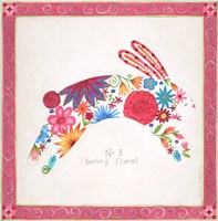 No. 1 Bunny Floral Fine-Art Print