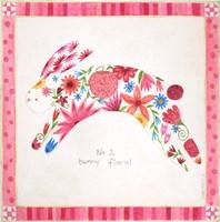 No. 2 Bunny Floral Fine-Art Print