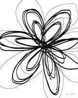 Black Ink Flower I Fine-Art Print