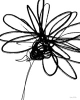 Black Ink Flower III Fine-Art Print