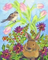 Bunny and Sparrow Fine-Art Print