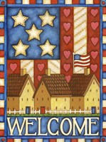 American Welcome Cottage Fine-Art Print