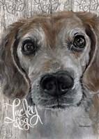 Lucky Dog Beagle Fine-Art Print
