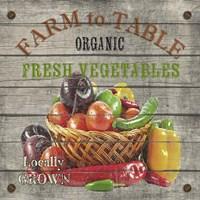 Farm to Table - Fresh Vegetables Fine-Art Print