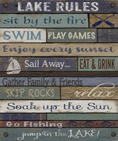 Lake Rules On Wood Fine-Art Print