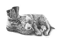 Puppy and Boot Fine-Art Print