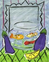 Eggplants and Fish Fine-Art Print