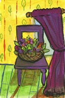 Purple Curtains and Chair Fine-Art Print