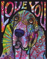 Love You Basset Fine-Art Print