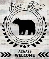 Blue Bear Lodge Sign 9 Fine-Art Print