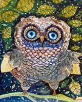 Collage Owl Fine-Art Print