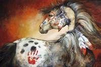 4 Feathers Indian War Pony Fine-Art Print