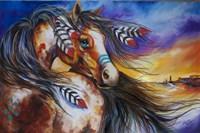 5 Feathers Indian War Horse Fine-Art Print