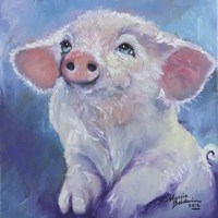 Feed Me Little Pink Piglet Fine-Art Print