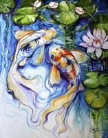 Koi Koi And Lily Fine-Art Print