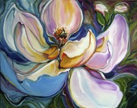 Sweet Maganolia Modern Floral Abstract Fine-Art Print