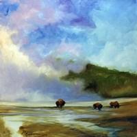Yellowstone Buffalo Landscape Fine-Art Print
