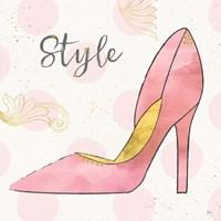 Fashion Blooms I Pink Framed Print