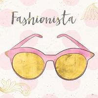Fashion Blooms IV Pink Framed Print