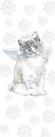 Christmas Kitties I Snowflakes Fine-Art Print