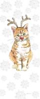 Christmas Kitties III Snowflakes Fine-Art Print