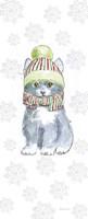 Christmas Kitties II Snowflakes Fine-Art Print