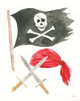 Pirates II on White Fine-Art Print
