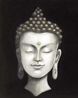 Serene Buddha I White Gold Fine-Art Print