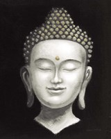 Serene Buddha II White Gold Fine-Art Print