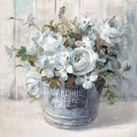 Garden Blooms I Blue Crop Fine-Art Print