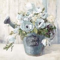 Garden Blooms II Blue Crop Fine-Art Print