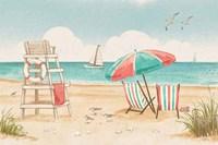 Beach Time I Fine-Art Print