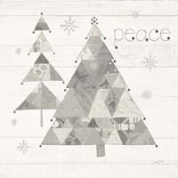 Christmas Patchwork IV Neutral Fine-Art Print