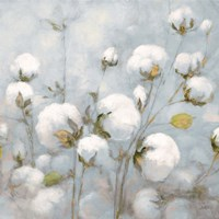 Cotton Field Blue Gray Crop Fine-Art Print